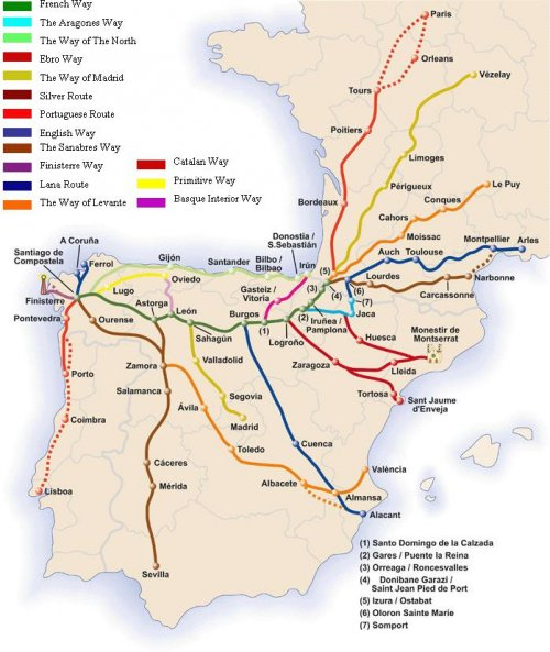 Camino-Routes France Spain Portugal.JPG