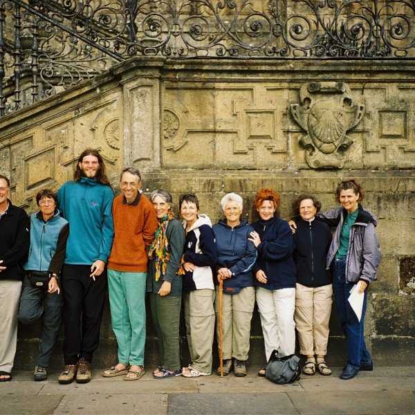 10 pilgrims at the end - 7 countries