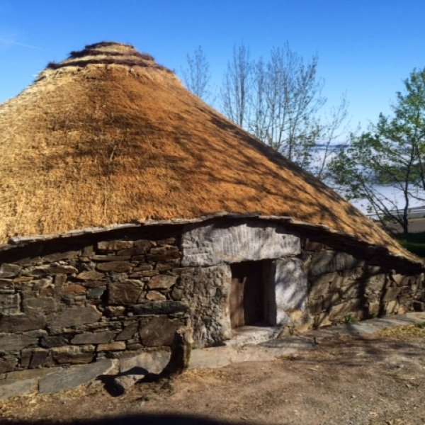 Traditional O'Cebreiro thatched hut.