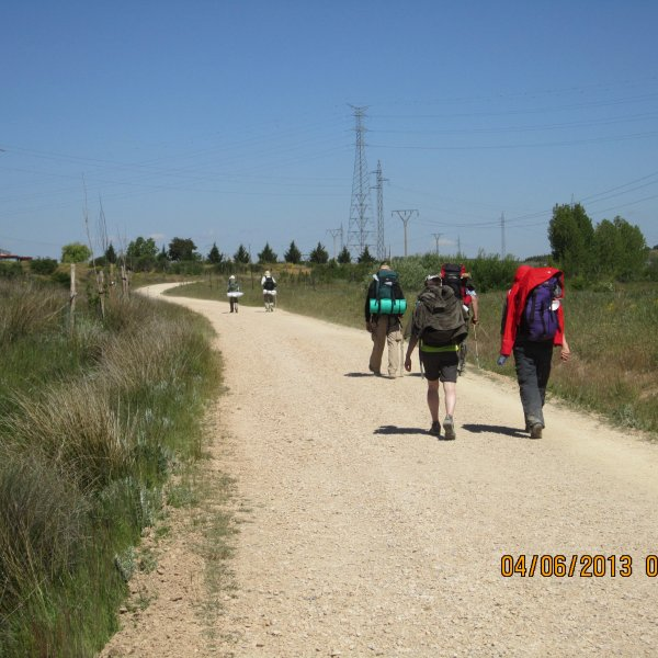 The last rural track before the bustle of Leon