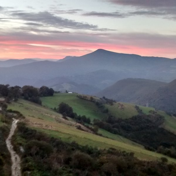 entering Galicia in the morning