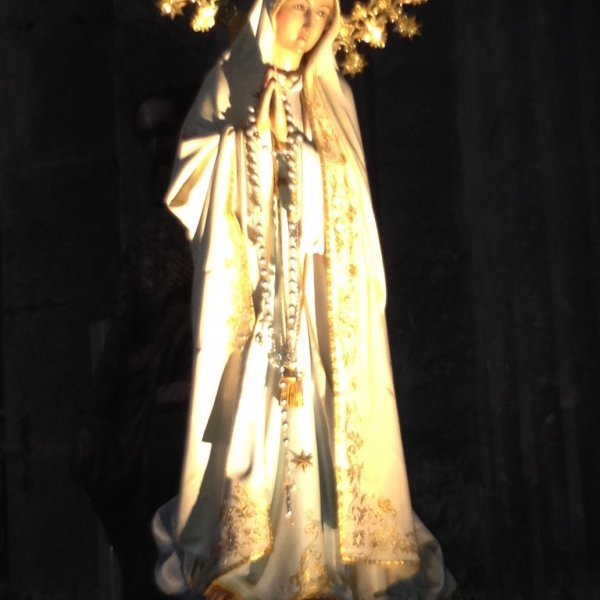 Statue of Virgin Mary , Cathedral, Santiago