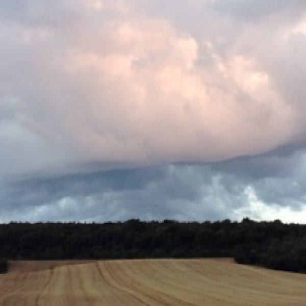 Clouds on the meseta