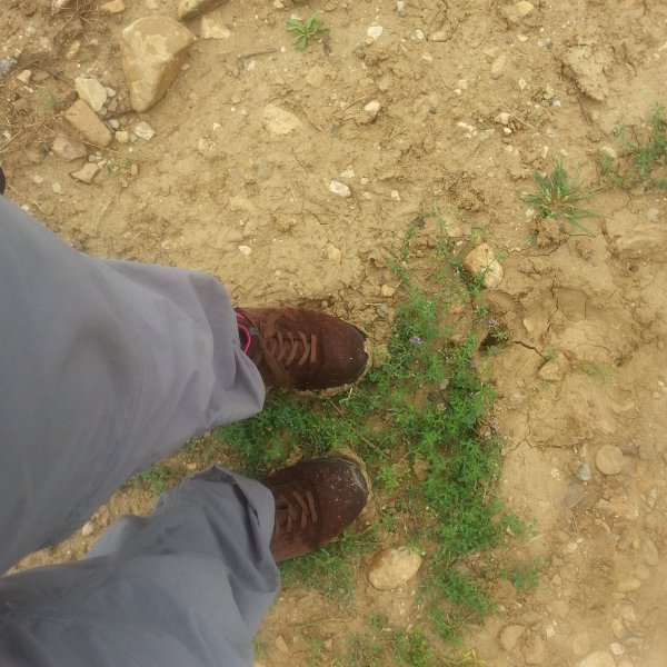 mud on my shoes