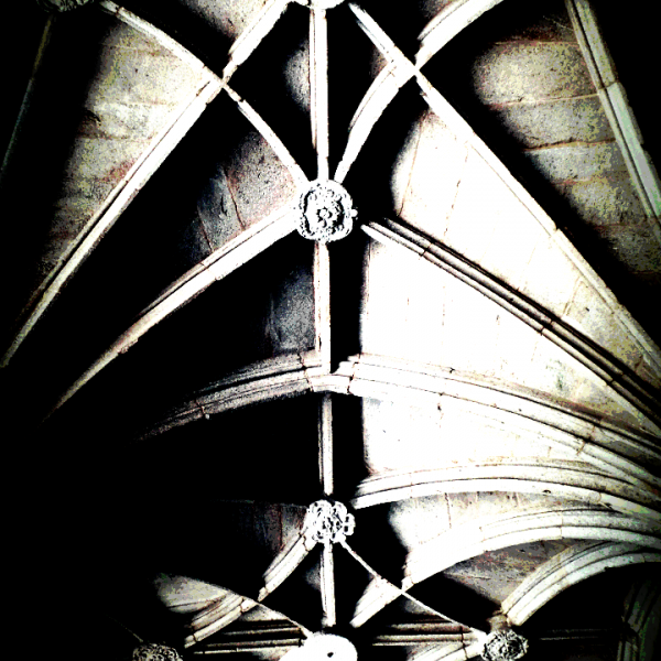 Vaulted ceiling of the cloister