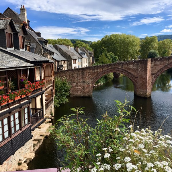 Le Puy~Conques:  River Lot in Espalion