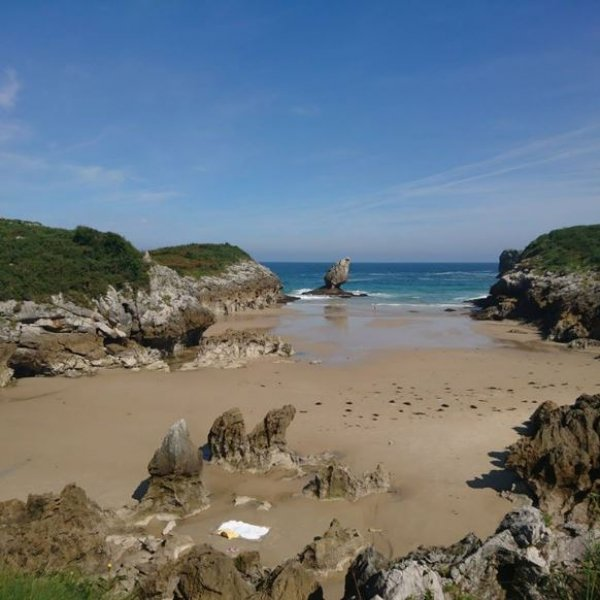 Beach in Buelna, Asturias
