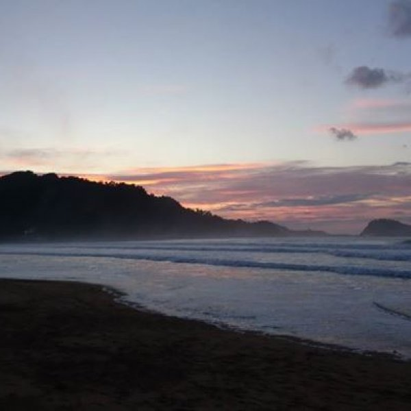 Zarautz beach on sunrise