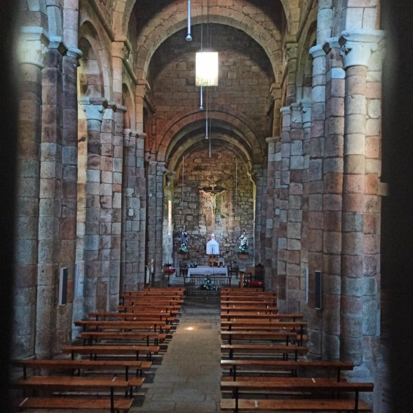 Moraime, a Romanesque church truly the size of a cathedral, just a few km before Muxía.jpg