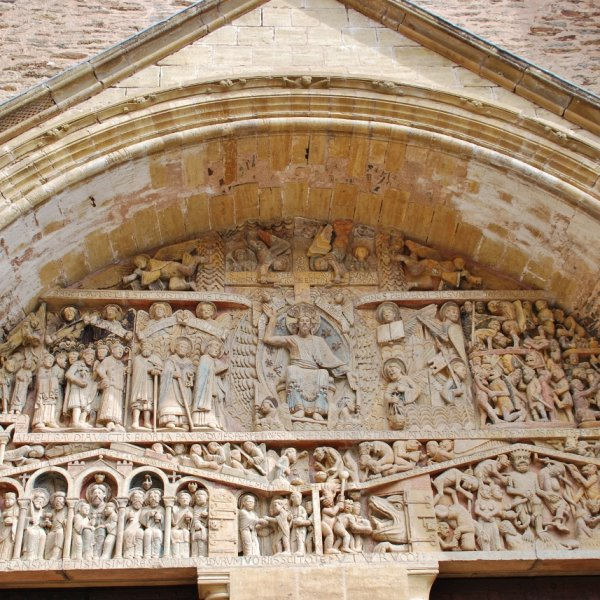 Tympanum Conques Cathedral