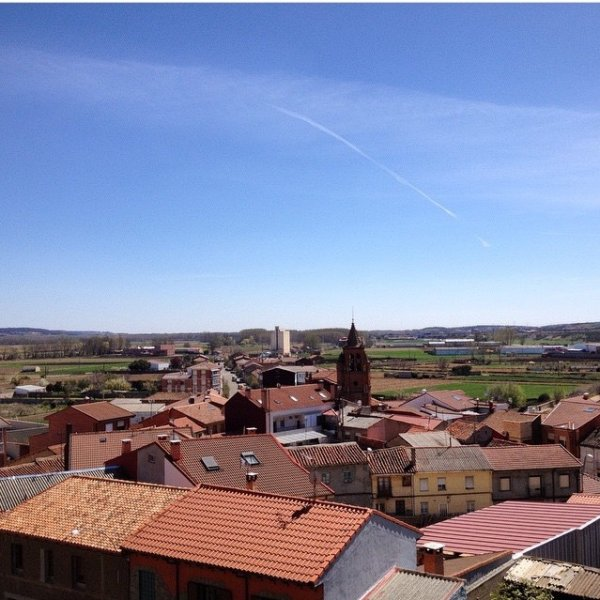 April 7th View from the rooftop of the Albergue Siervas de Maria