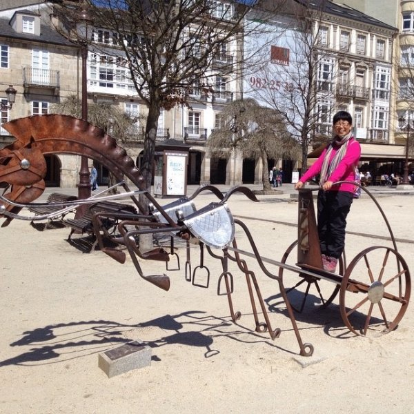 April 11 the Roman chariot at Lugo