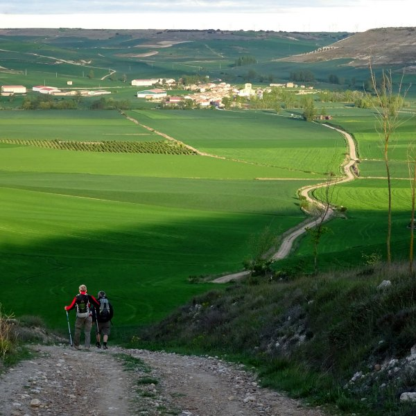 Descent to Hornillos del Camino