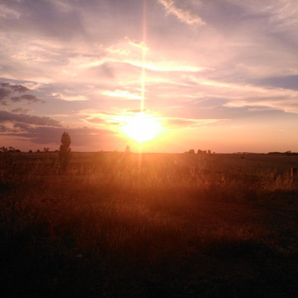 Sunset in Becrianos del Real Camino - July 2014
