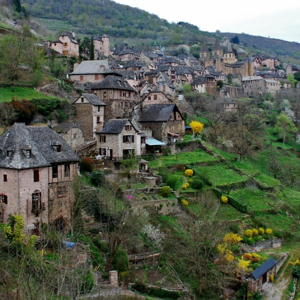 Conques in Springtime
