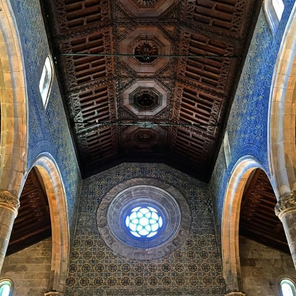 Beautiful ceiling of the Igreja Matriz de Caminha