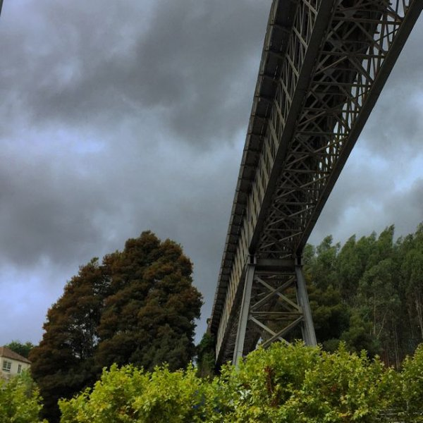 Eiffel railway bridge in Redondela