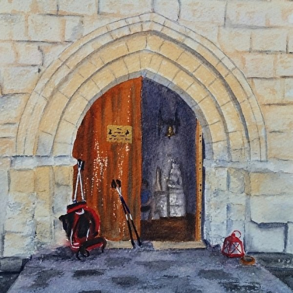 Camino Church Door