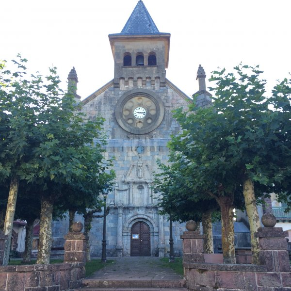 Church along the Camino