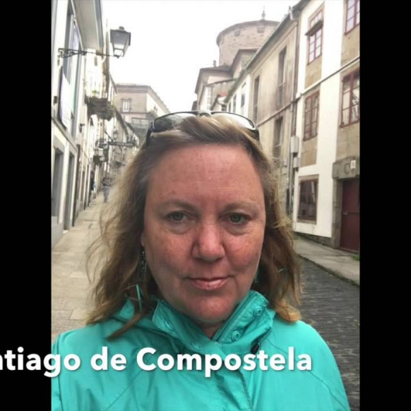 Camino de Santiago: Walking into Santiago - YouTube