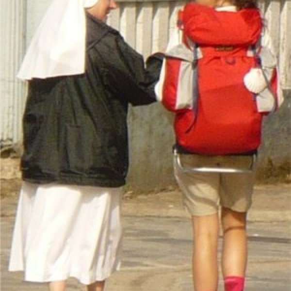 Nun and pilgrim