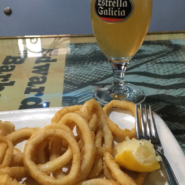 Delicious Squid and Beer