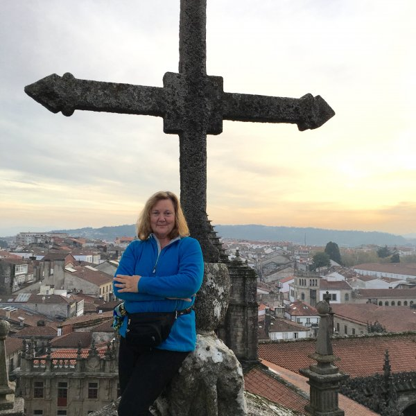 Up on the Roof--Santiago Cathedral