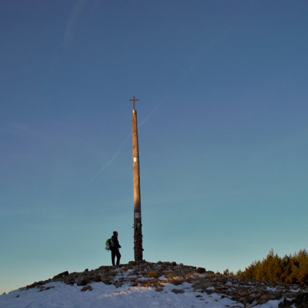 Cruz de Ferro very early morning, Snow, 1st March 2016