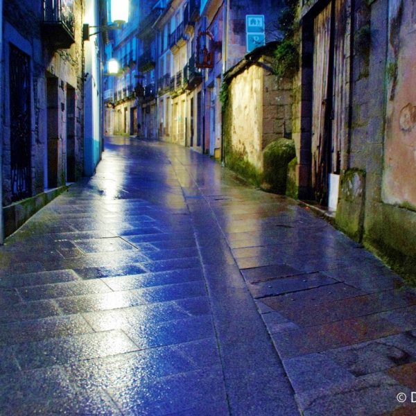 Sarria before the rush. very early morning, (Empty street a  rare sight)