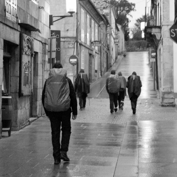 "Leaving Sarria ""Stop before you Go Go"""