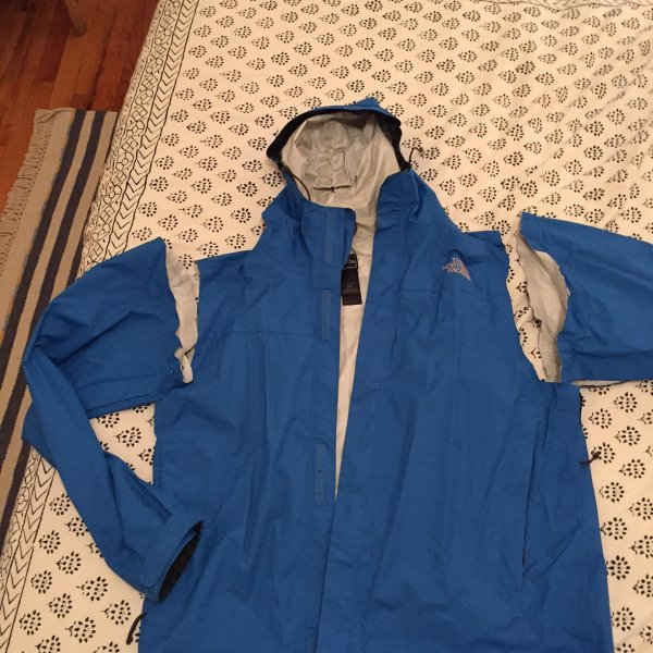 cut the sleaves off an old rain jacket