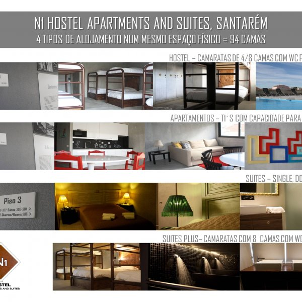 4 types of accomodation in one building