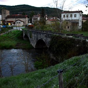 The medieval bridge at Larrasoana -17th April 2016