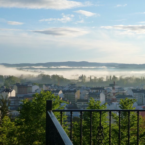 Early  morning mists over Sarria.