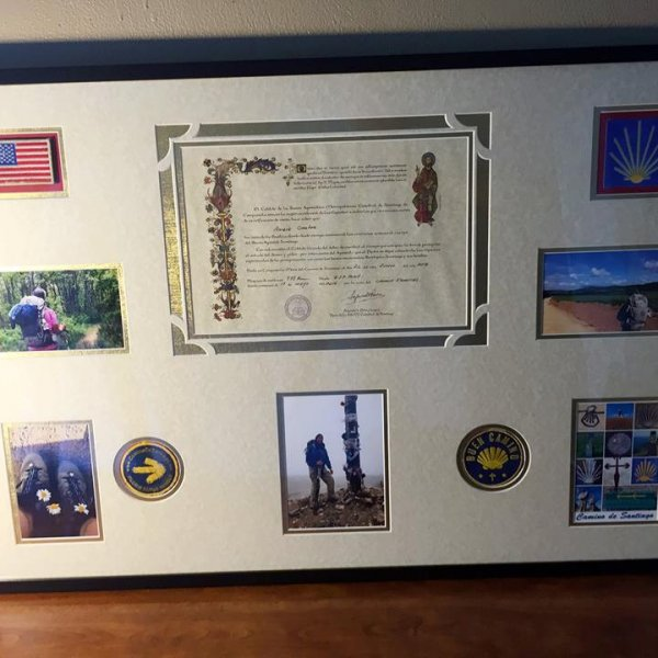 Framed distance certificate