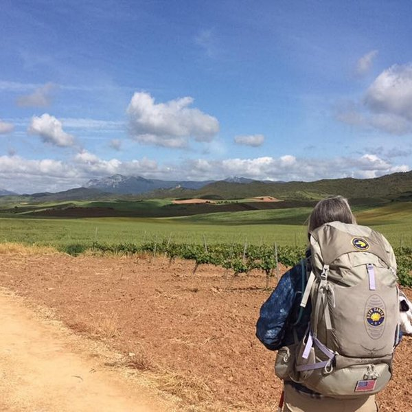 soaking up the scenery on the Meseta