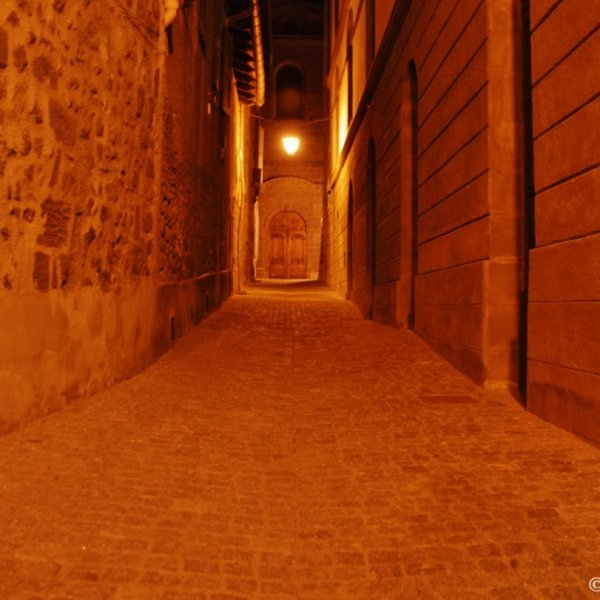 Le Puy en Velay, near the Cathedral, at night