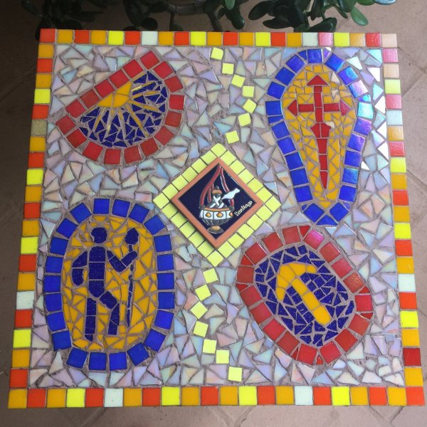 Mosaic Camino inspired table