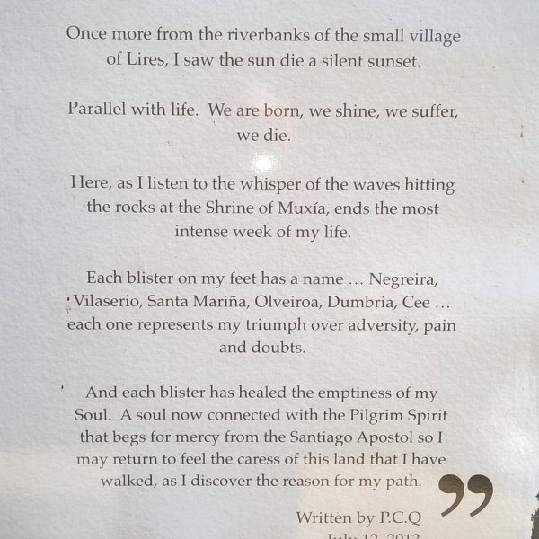 Poem about the Camino