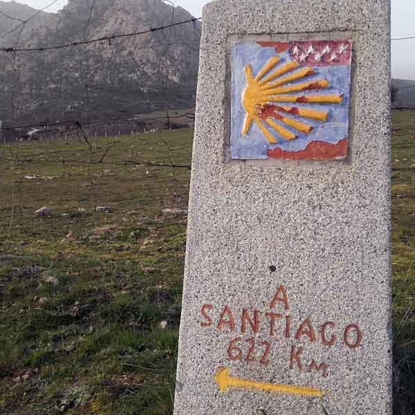 Camino de Madrid, Way Marker close to El Boalo