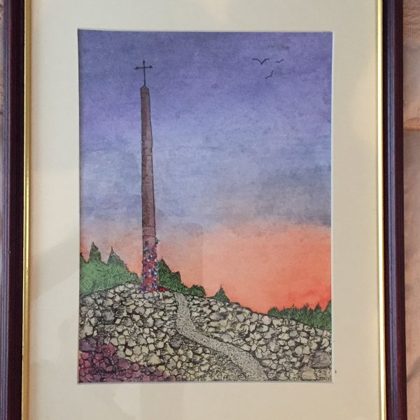 Cruz de Ferro, water colour