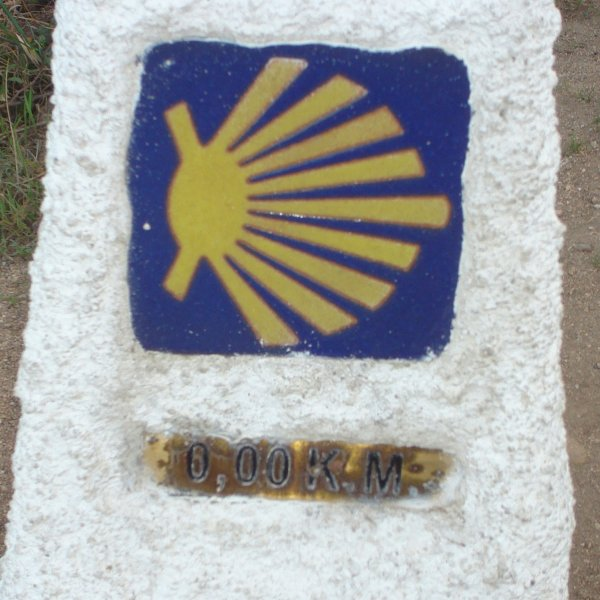 the 0 km marker in finisterre