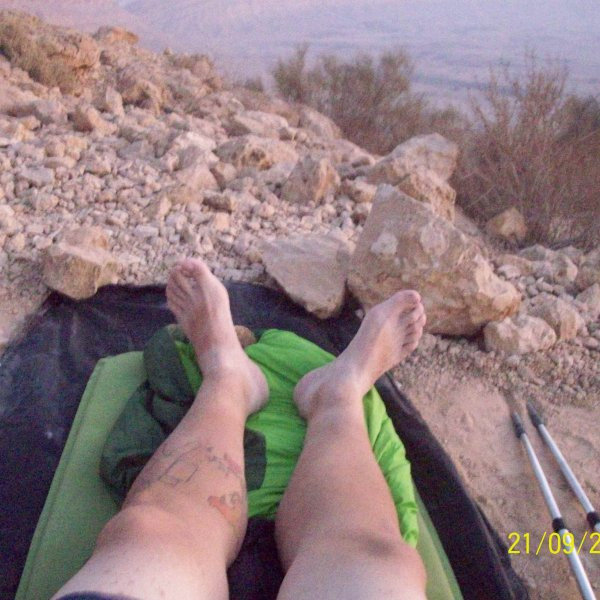 sleeping outside in the desert