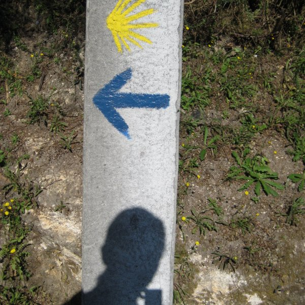 A Camino must - a shadow selfie