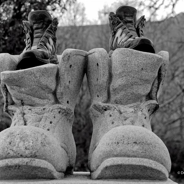 Don't complain about the weight of your boots, it could be worse.