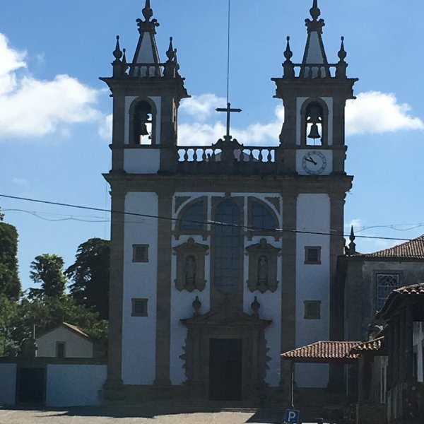 Typical Church with Statue of Santiago...right side above door