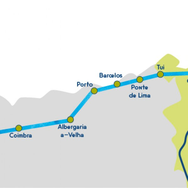Camino portugues map stages