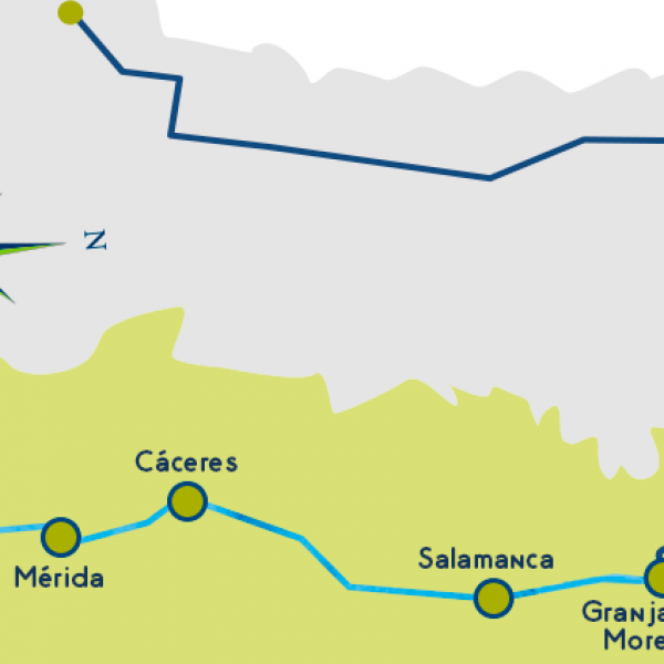 Via de la plata map stages