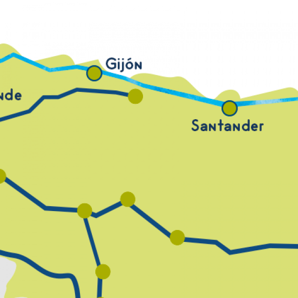 Camino del norte map stages