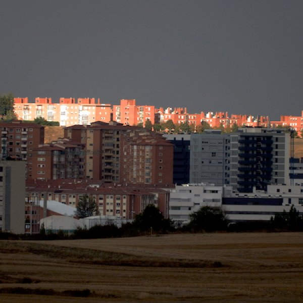 Pamplona as the sun was setting